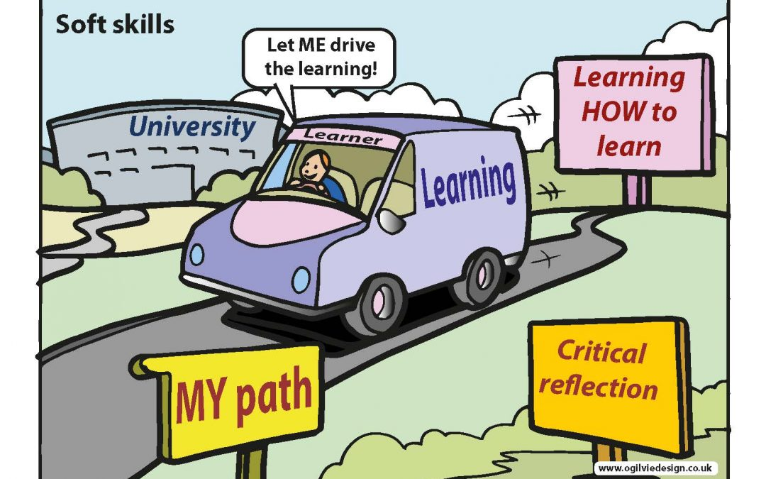 illustration of a learner driving a car - let me drive the learning